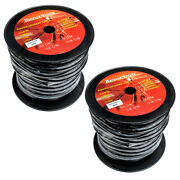 200 Ft Foot 12 Gauge 8 Conductor Pro Audio Speaker Cable Wire Snake 2 X 100ft