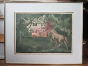 G H Rothe Mezzotint Signed Limited Edition 70 /150 Homecoming Horse House