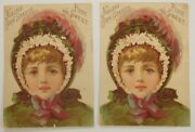 Lot Of 2 1800and039s Victorian Trade Card Niagara Corn Starch Pure And Sweet