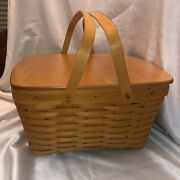 New Retired Longaberger 1999 Hostess Homecoming Basket Combo With Lid