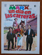A Day At The Races Marx Brothers Spanish Press Sheet 1974 Horse Racing Harpo