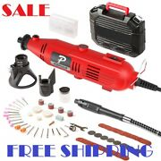 107 Piece Best Tool Kit Set Variable Speed Rotary Grinder Cutter Accessories New