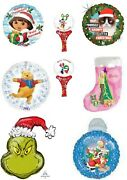 Tv And Film Xmas Christmas Balloons Party Ware Decoration Novelty Gift Helium