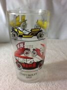 Vintage Classic Antique Cars Automobiles Drinking Glass, 6 3/4 Tall, Collectibl