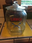 Vintage Lance Glass Cookie Jar With Glass Lid