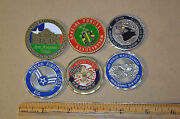 Lot Of 6 Challenge Coin Air Force Special Forces Cfc 1843