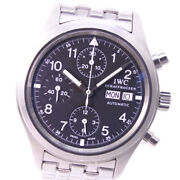 Iw370607 Freeger Chrono Watches Silver/black Stainless Steel Mens Blac...