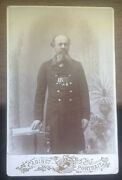 Very Rare Vintage Photo Cabinet Portrait Russian Officer Autograph 1907 Years