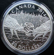 Hot 20 .999 Fine Silver Coin 2014 White Tailed Deer Canada 1 Oz. A Challenge