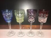 Loose Set Of 4 Etched Faberge Liqueur Glasses New Never Used