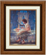 Ron Dicianni Angels Unseen Canvas Framed W Liner 9 X 12 Image Christian Art