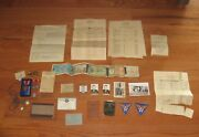Ww2 Us Army Air Force Medals Papers Compass Flying Lot Flight Log Antique Plane
