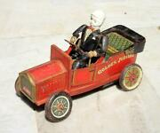 Vintage Old Battery Operated Golden Jublee A1910 Car Tin Toy Made In Japan
