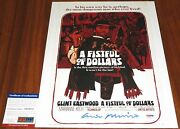 Ennio Morricone Signed 11x14 A Fistful Of Dollars Composer Oscar Psa/dna