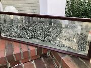 Vintage 1922 Lafayette College Easton Pa Panoramic Photo In Frame