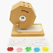 Wooden Lottery Machine Garapon Ball With Special Saucer And 253 Ball Japan Ems