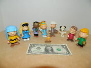 Rare 2007 Linus Lucy Charlie Brown 3 Action Figure Peanuts Snoopy Gang Lot Of 9