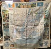 1952 Esso Cloth Map Of Nyc Double Sided 32x32 Inches Copyrite 1952