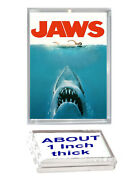 Jaws Shark Movie Poster Acrylic Executive Display Piece Desk Top Paperweight