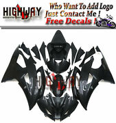 All Black Motorcycle Abs Fairings Body Work Kits Set Fit Yamaha Yzf R6 08-15