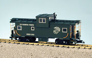 Usa Trains G Scale 12127 Extended Vision Caboose U S Marines Rd 903 Green