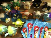 Mc Donalds Mcdonalds Furby Toys Lot Of 13 Figures And 7 Happy Meal Bag 1998