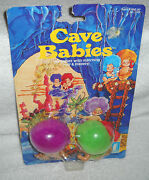 7538 Vintage Creata International Toys Cave Babies 2 Pack Purple And Green Hair