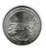 2010-p Brilliant Uncirculated Grand Canyon National Park Quarter Coin