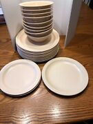 Heavy Duty Adcraft Get Texasware Beige Plates And Bowls Lot Of 24