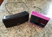 Lot Of 2 Ihome Portable Speakers, Models Ihm10 For Ipod, Mp3 And Ibt34 Bluetooth.