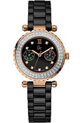 Guess Collection A28105l2ladiesdiamonds On Bezelsapphirescrew Crown100m Wr