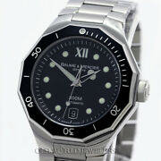 Baume And Mercier Riviera Automatic Ref Moao8176 Black Dial/bezel Stainless Box