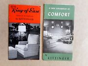 Two Vintage 50and039s-60and039s Brochures By Kittinger Recliner Chair Lounging Furniture