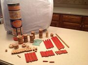 Vintage Tinkertoy Tinker Toy Special Windlass Drive 105 Pieces Spaulding