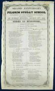 Event Broadside / Order Of Exercises Second Anniversary Of The Pilgrim 1st Ed