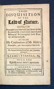 Richard . Tyrrell Cumberland / Disquisition Of The Law Of Nature 1701
