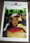 Airlines Travel Poster / Hawaii United Airlines 974-0641-po782 1st Edition 1976
