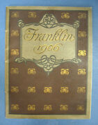 Automotive Trade Catalogue / Franklin Motor-cars 1906 First Edition