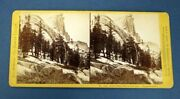 Stereoview Photograph / California -- Yo Semite Valley South Dome From Clouds'