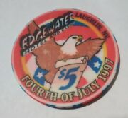 1997 Edgewater Hotel Casino Laughlin, Nevada 5.00 Chip Great For Collection