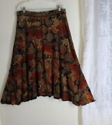 Coldwater Creek -sz Xl Exciting Ethnic Slinky Gypsy Boho A-line Full Skirt