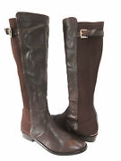 New Coach Lilac Brown Leather Knee High Boots Women's Sz 5.5b Rtl 398
