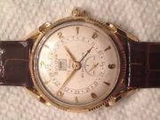Bulova Mens Watch 23 Jewels Day Date Pointer Fully Services Rare Circa 1955