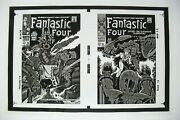 Original Production Art Fantastic Four 80 And 81 Covers, Jack Kirby Art, 11x17