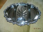 Poole Old English Epca Silverplate Handled Tray 5036 1 Post-1940