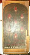 1800and039s Antique Tabletop Pinball Game Wood And Peg Nail-hand Painted Art Work