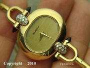 18k Solid Gold Bueche Girod - Dressy Lady Watch - Unique Design Rare Find