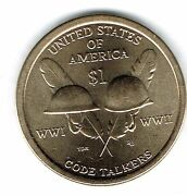 2016-d 1 Brilliant Uncirculated Business Strike Native American Dollar Coin