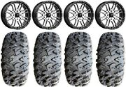 Msa Machined Brute 18 Atv Wheels 33 Motoclaw Tires Can-am Renegade Outlander