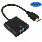 100x 1080p Hdmi Male To Vga Female Video Converter Adapter Cable For Pc Dvd Hdtv